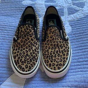Vans Shoes - Women's vans slip on leopard